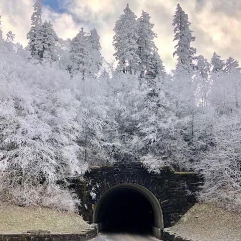 Winter Smoky Mtn Tunnel
